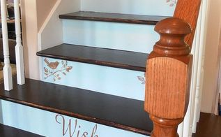 a creative staircase makeover, diy, stairs, My Beautiful Painted Staircase All Finished