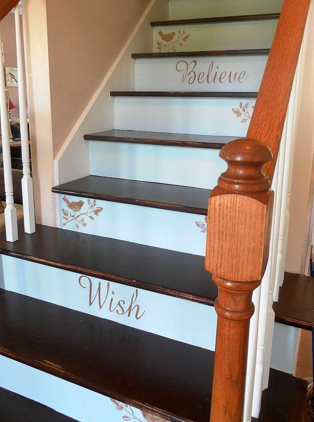 A Creative Staircase Makeover Hometalk - Diy staircase designs