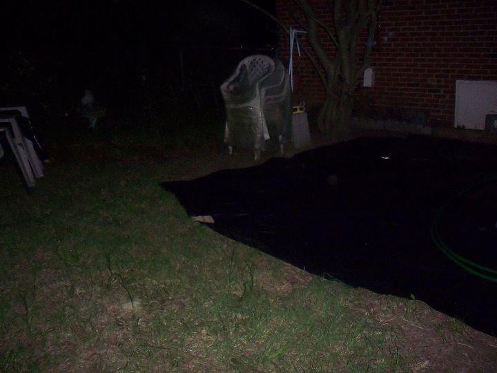 black plastic laid out