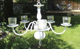 add some romance and atmosphere to your garden with a chandelier, gardening, outdoor living, Hang it from a tree or a gazebo add some tea lights and you have instant charm