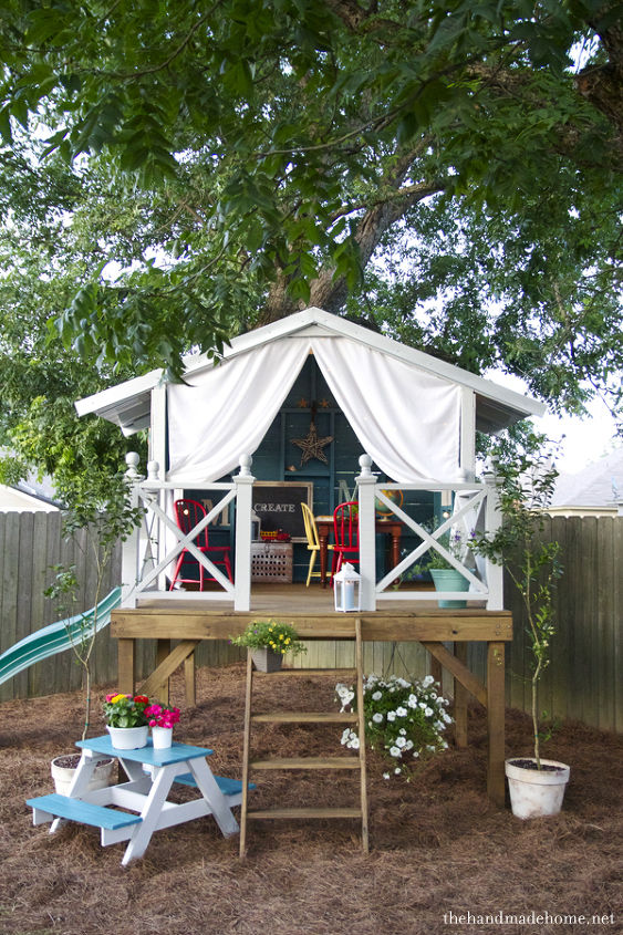 A Tree House Fort Or Secret Hideout Outdoor Living Woodworking Projects