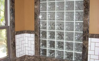 how about granite or marble window trim, bathroom ideas, home decor, windows, Dark Emperador marble tub and trim