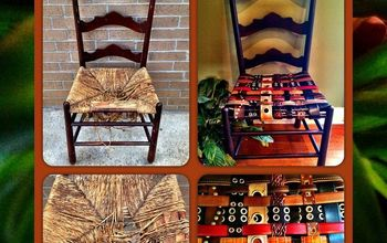 re upholster chairs by using re purposed belts, painted furniture, repurposing upcycling