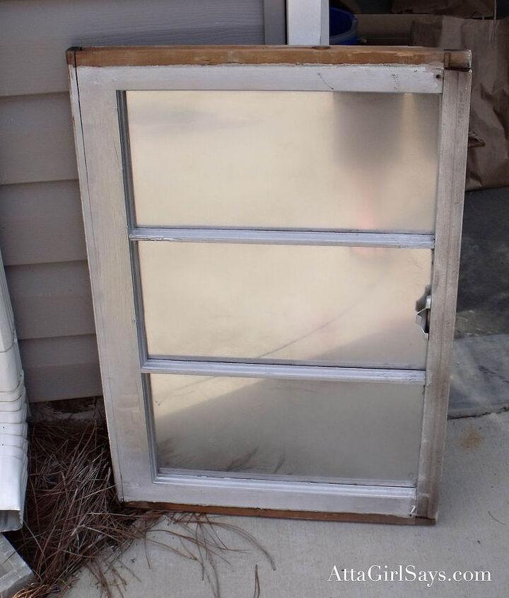 Window sprayed with Looking Glass spray paint