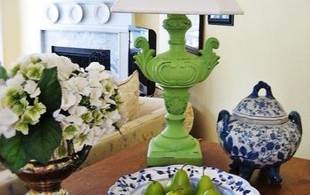 I have given my living room a little facelift adding more blue and white (my favorite) with pops of green.