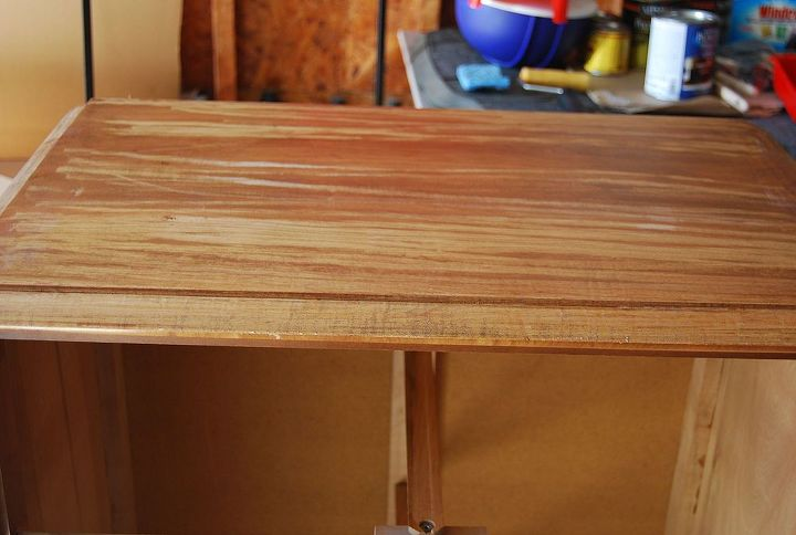 View of the top during the sanding process.