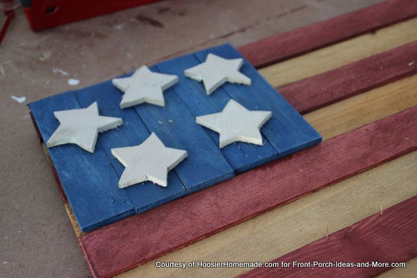 diy rustic americana flag, crafts, patriotic decor ideas, seasonal holiday decor, woodworking projects, wreaths