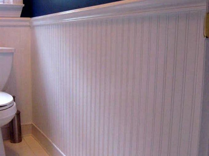 beadboard wallpaper, bathroom ideas, doors, home decor, wall decor