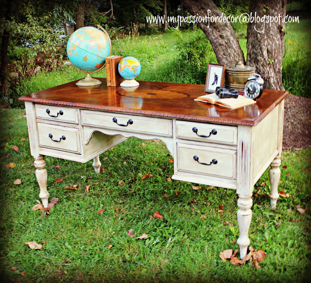 Desk Makeover With Chalk Paint By Annie Sloan In Old White Home