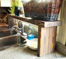 Over The Sink Shelf From Pallet Wood, Diy, Kitchen Design, Pallet, Shelving