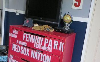 #Subway Style #Baseball #Dresser for My #RedSox Fans {#Ikea Hack}