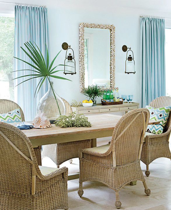 Although this overall look is sophisticated, sandy tan wicker furniture feels informal and casual. Shop the breakfast room > http://wayfair.ly/12dxrwr