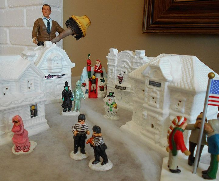 diy a christmas story village christmas decorations seasonal holiday decor