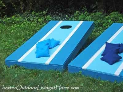 how to build a cornhole toss game, diy, outdoor living