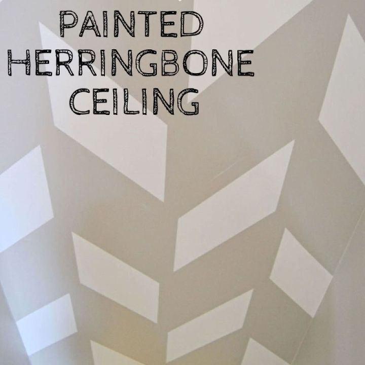 painting a ceiling in a herringbone pattern, diy, how to, paint colors, painting, stairs, walls ceilings, I really wanted a different look on the ceiling going down the steps to the basement I mean basements are usually pretty dimly lit and boring and I wanted ours to say hello I am new and fresh So herringbone it is