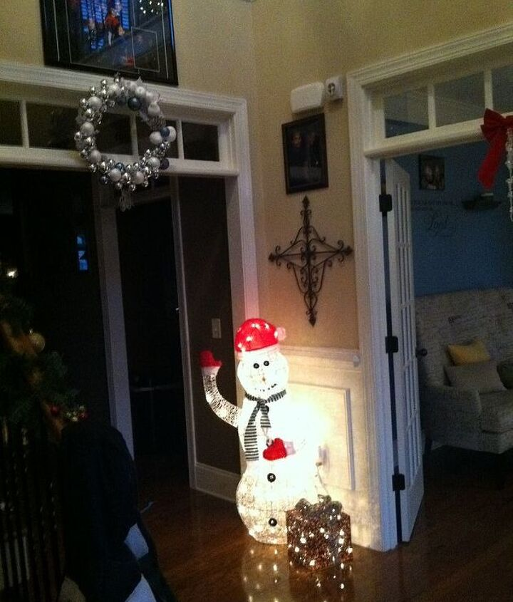 Our dront entrance and the wreath finally hung