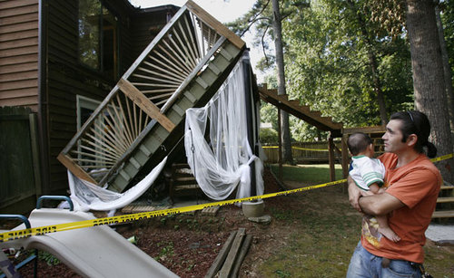 does your deck have any of these signs of trouble, decks, home maintenance repairs, This Lawrenceville GA deck collapsed in 2009 during a wedding party