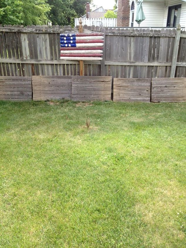 reclaimed fence flags, fences, patriotic decor ideas, repurposing upcycling, seasonal holiday d cor