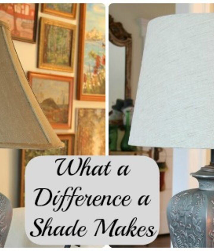 Look at the difference. Same lamp - different shades. The drum updates the look on these 15 year old lamps.  http://eclecticallyvintage.com/2012/12/what-a-difference-a-shade-makes-simple-update-for-lamps/