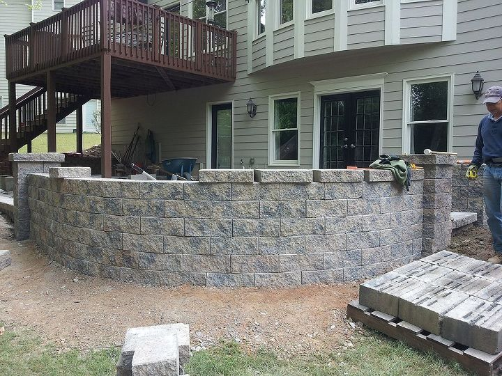 back of the retaining wall