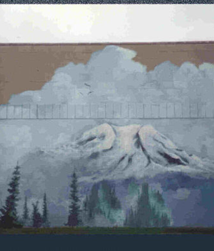 This is a 20' tall x 45' school mural.