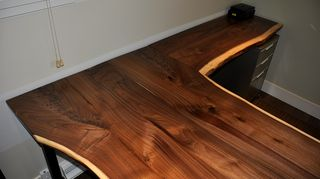 q advice on how to use wood for the top of a buffet, dining room ideas, home decor, painted furniture, Walnut desk top