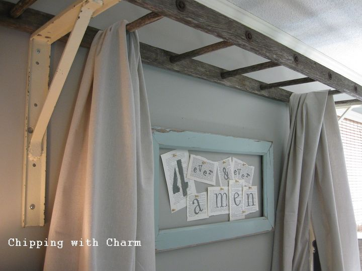 An Old Ladder Re-purposed as a Bed Canopy | Hometalk