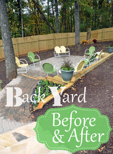 Ever started one project that gave birth to 37 more projects!!!? That's what this back yard project did!