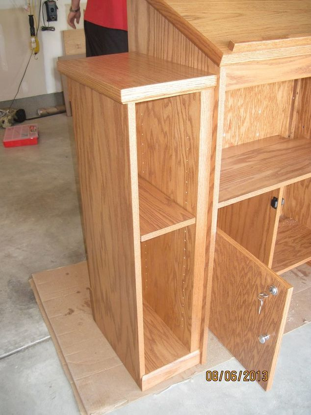 pulpit husband made, diy, woodworking projects