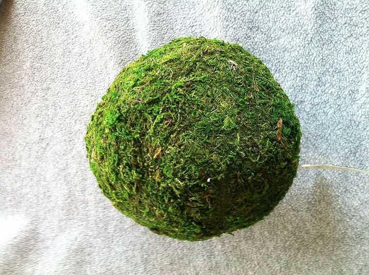 Styrofoam ball. This one is covered in moss but it can be plain as you won't be able to see it.