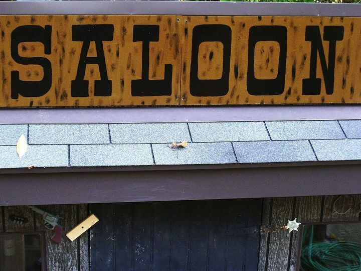 """Since we raise SILKY CHICKENS, we had to name our Saloon, """"Silky Spurs Saloon""""  lol"""