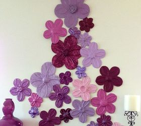 Foil Flowers Wall D Cor Diy, Crafts, Home Decor, Wall Decor, Art