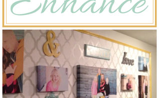 enhance a gallery wall with stencils, home decor, wall decor