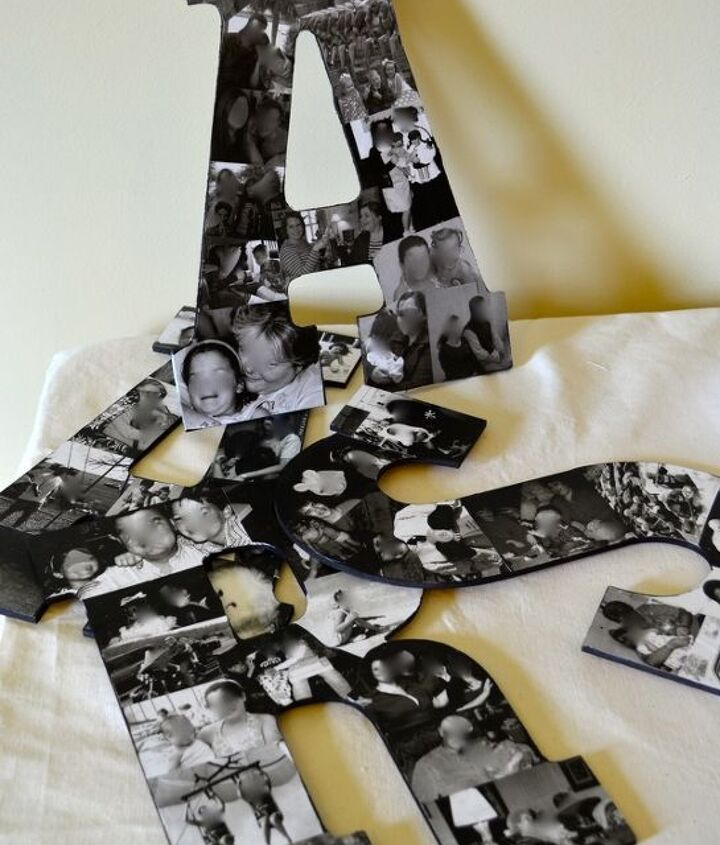 Letters filled with family photos make a great keepsake.