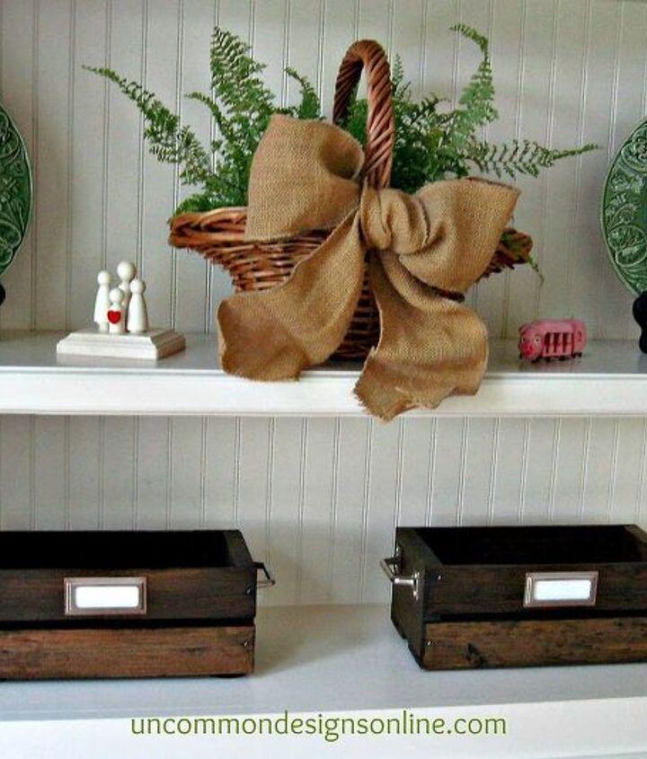 Vintage DIY Crates for storage!