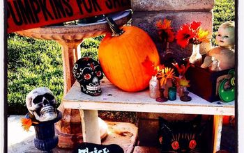 my halloween porch vignette with my 1 00 doll, halloween decorations, seasonal holiday d cor