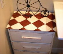 bathroom re do, bathroom ideas, home decor, painted furniture, repurposing upcycling, I also have a matching set of drawers like this that I painted different for another area