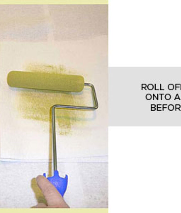 Remove excess paint onto paper towel