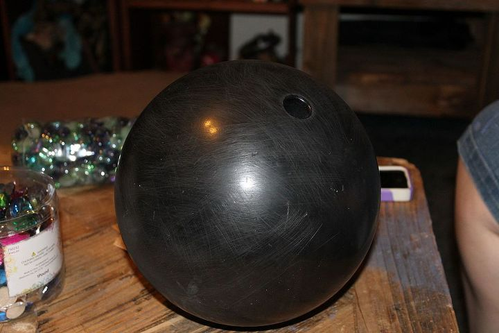 homemade gazing balls, repurposing upcycling, We started out with 3 bowling balls