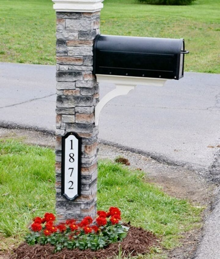 our mailbox makeover, curb appeal