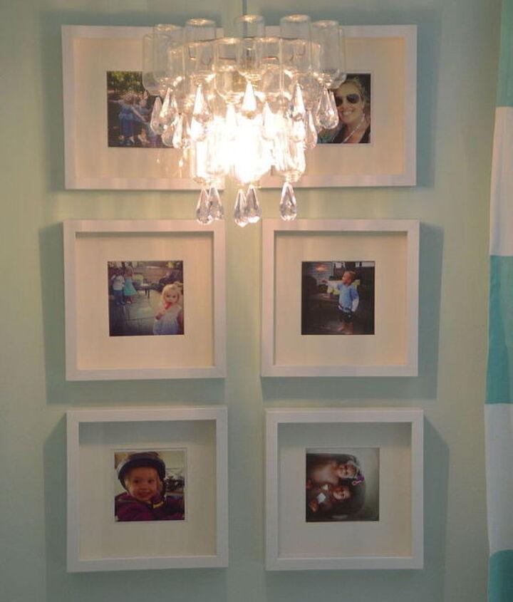 dollar store chandelier, crafts, lighting, repurposing upcycling