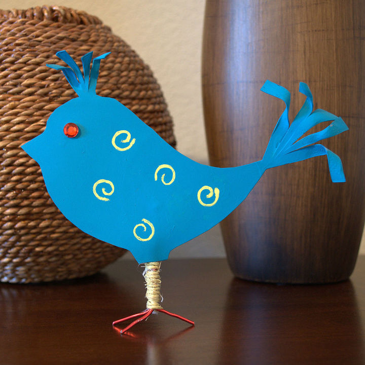 recycled plastic bottle spring bird, crafts, repurposing upcycling