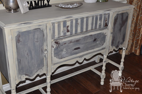 painted buffet, painted furniture
