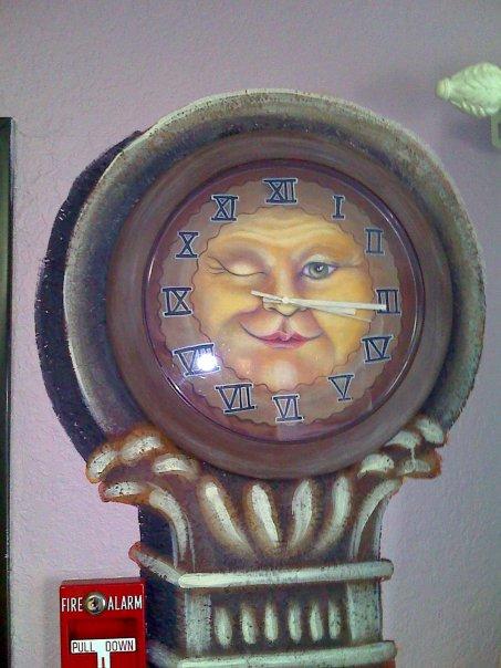 Clock face close up