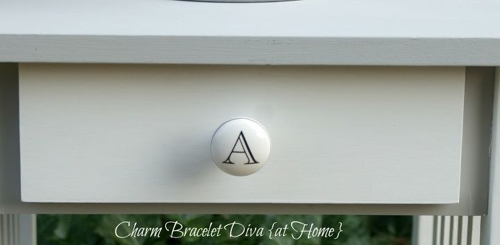 Amazing what a Hobby Lobby porcelain monogram knob can do (82 cents on clearance!)