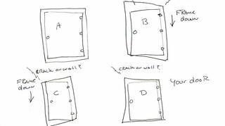 settling house affecting exterior doors, doors, home maintenance repairs, Door scan sketch