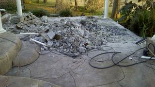 replacing pondless waterfall, outdoor living, ponds water features, front of waterfall
