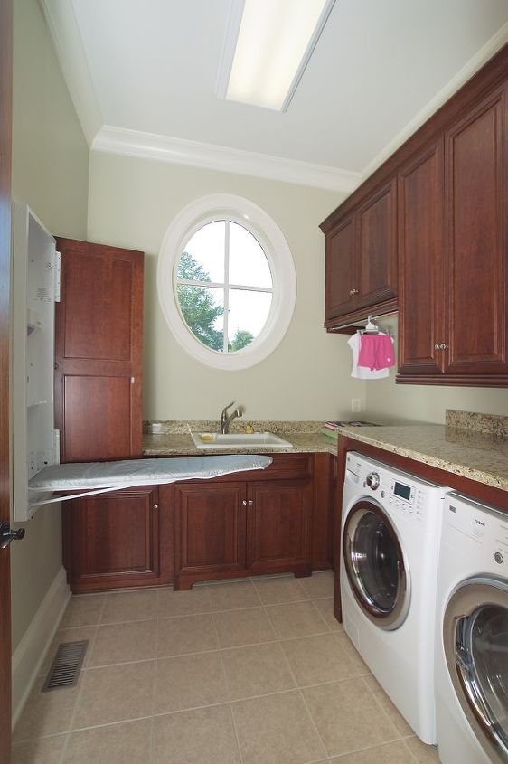Downstairs Laundry Room - Hidden Ironing Board