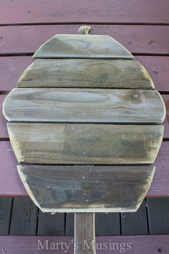 Weathered fence board
