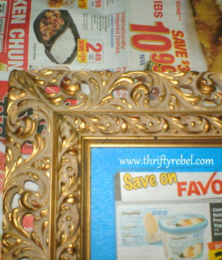 Gold Mirror Before